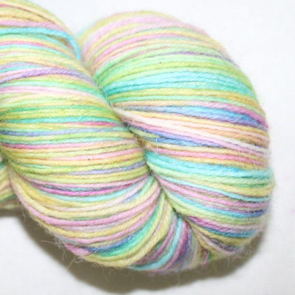 4ply British wool and nylon in Baby Rainbow