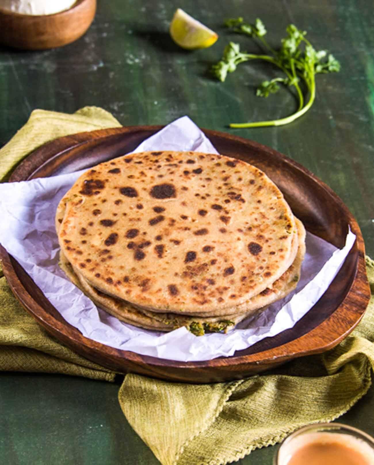 broccoli and paneer paratha recipe paratha recipes paratha easy food to make on hebbar s kitchen recipes laccha paratha id=61273