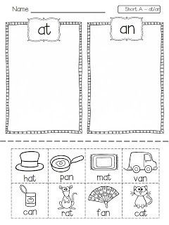 Flying into First Grade freebie - at/an, ag/am, ad/ap, en/ed, eg ...