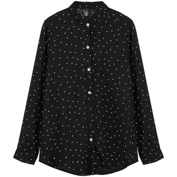 Yoins Yoins Blouse (€13) ❤ liked on Polyvore featuring tops, blouses, black, shirts, shirts & tops, fitted blouse, sexy blouses, sexy tops and fitted tops