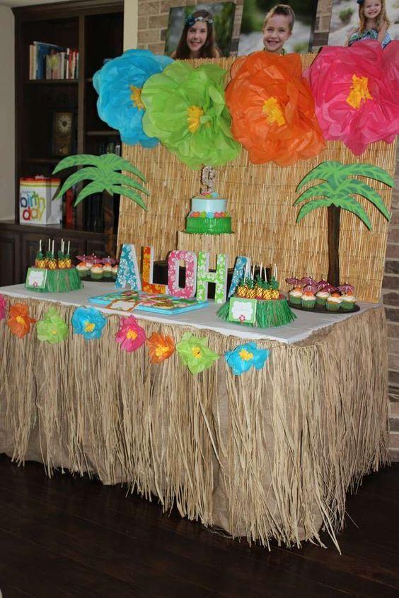 Resultado de imagen para fiesta hawaiana para adultos cumple de