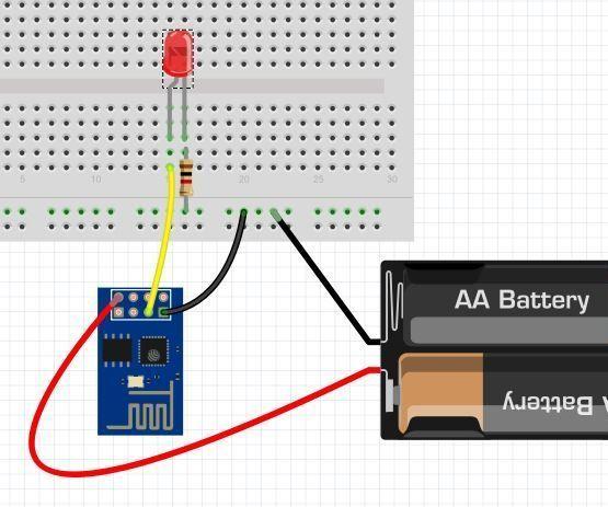 Blink for esp native like arduino using windows