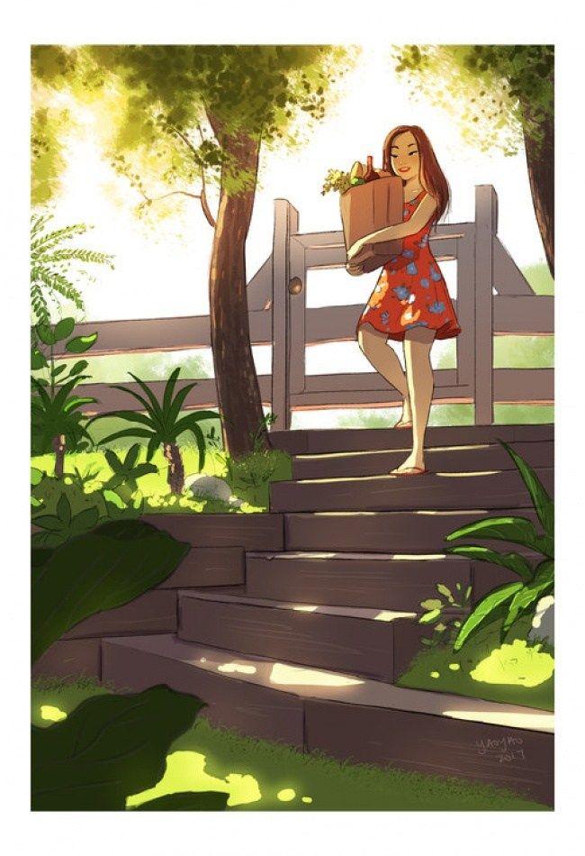 Vrouw Illustratie, Tekentechnieken, Meisjes Leven, Portretten Tekenen,  Busjes, Commentaar, Alleen Wonen, Vrijgezel Leven, Single Zijn