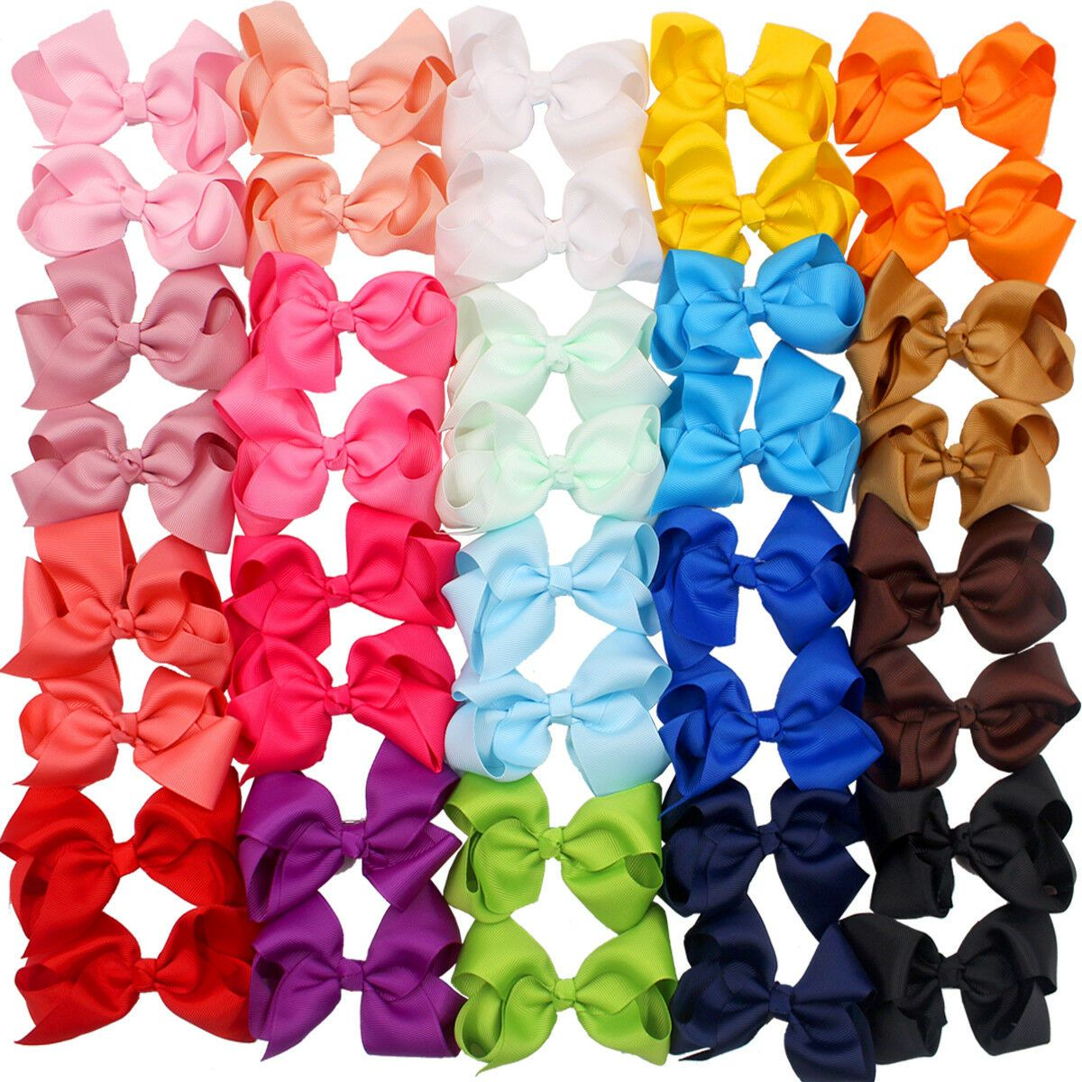"""40Pc Boutique Pinwheel 3/"""" Hair Bows Alligator Clips For Babies Toddlers In Pairs"""