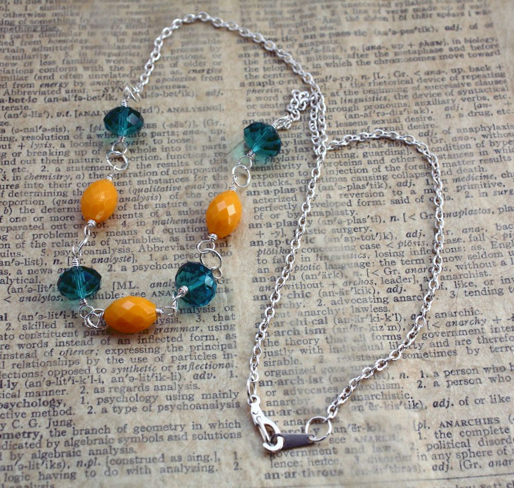 Pulling Petals Necklace by CraftyHope. $21.40, via Etsy.