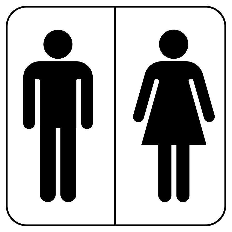 His And Hers Toilet Logo Bathroom Signs Gender Neutral Bathrooms