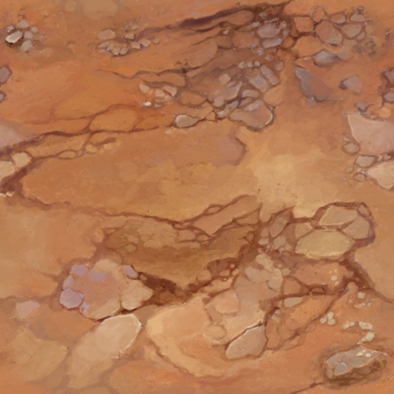 Tileable Hand Painted Textures set for a desert environment Full