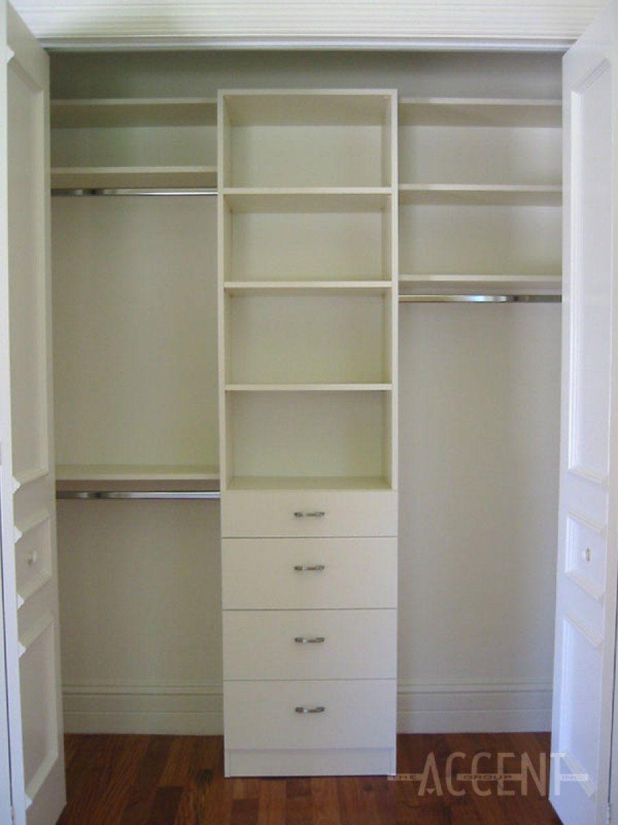White Melamine Closet Shelving Closet Layout Bedroom Organization Closet Closet Remodel