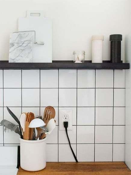 Photo of 47 Trendy kitchen black board wall subway tiles