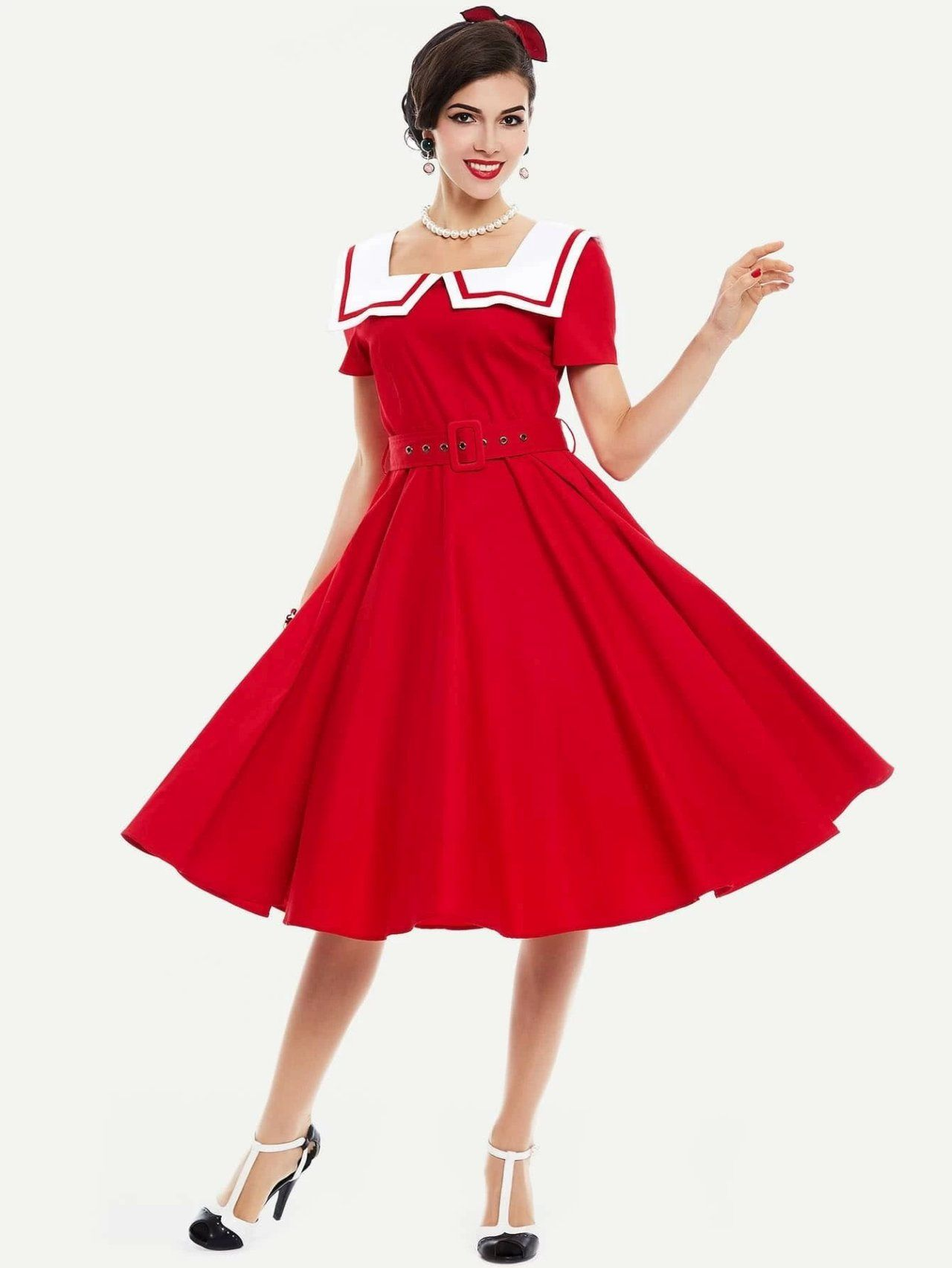 Kirstys Closet In 2021 Vintage Red Dress Dresses Party Dresses For Women [ 1705 x 1280 Pixel ]