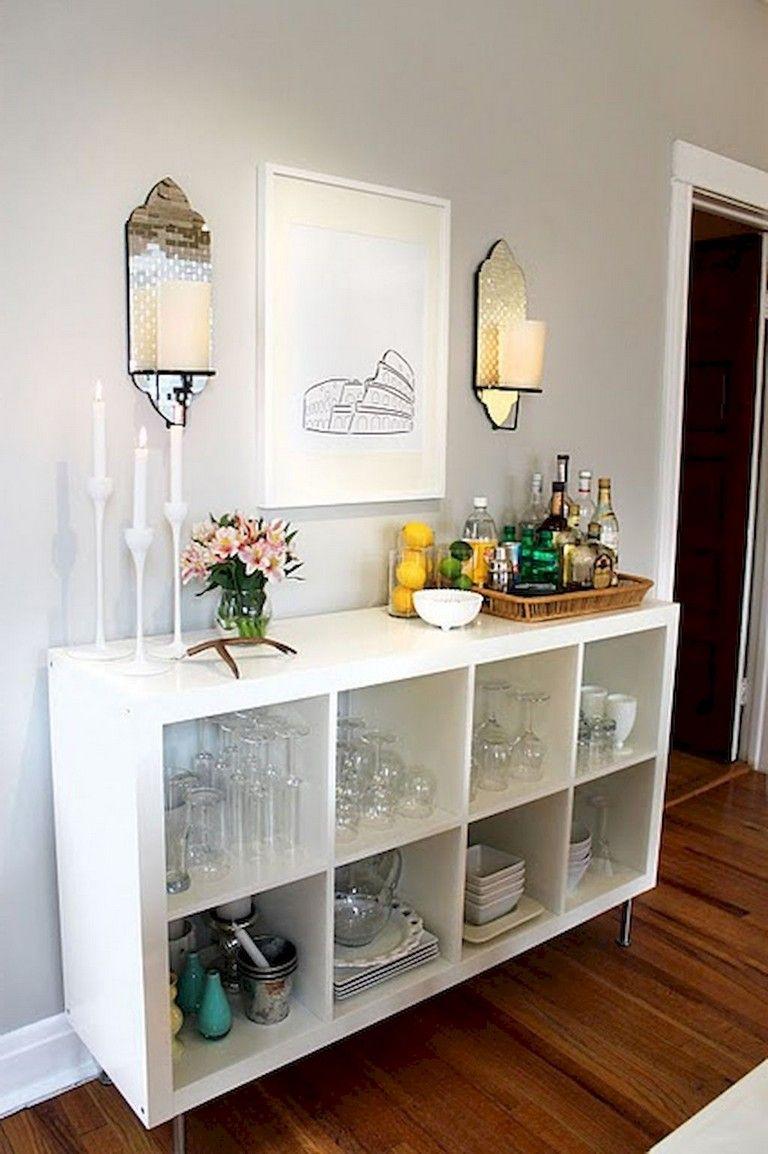 45 Lovely Apartment Coffee Bar Cart Ideas Ikea Bar