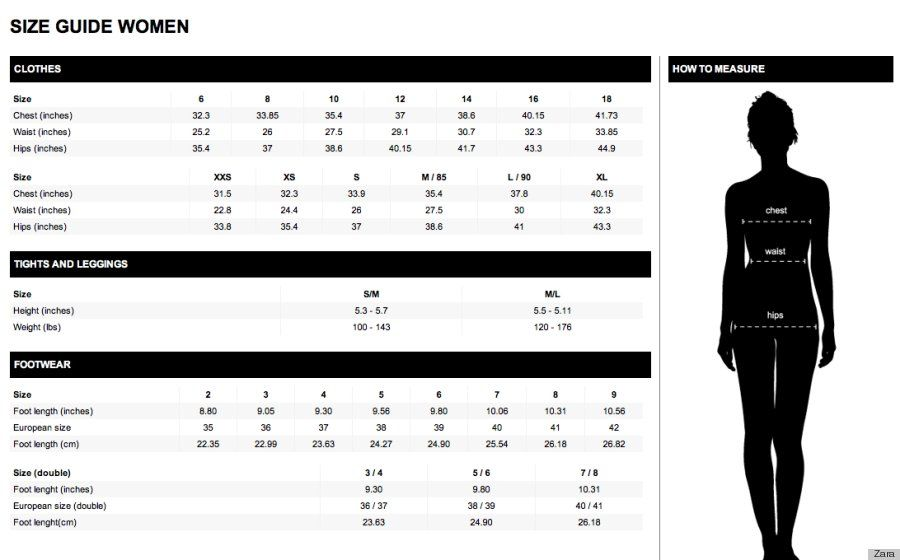 Zara sizes also style inspiration pinterest size chart clothing rh