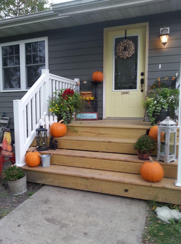 Front Porch Addition Farmhouse Front Porches House: Mobile Home Porch, Decks And Porches, Front Porch Deck
