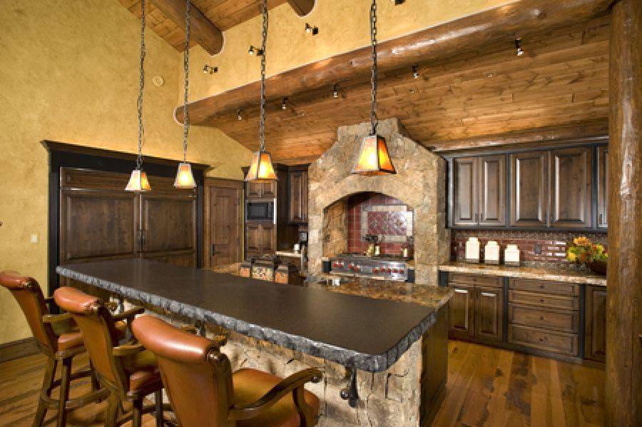 Dise o cocina americana rustica buscar con google for Disenos de cocinas americanas