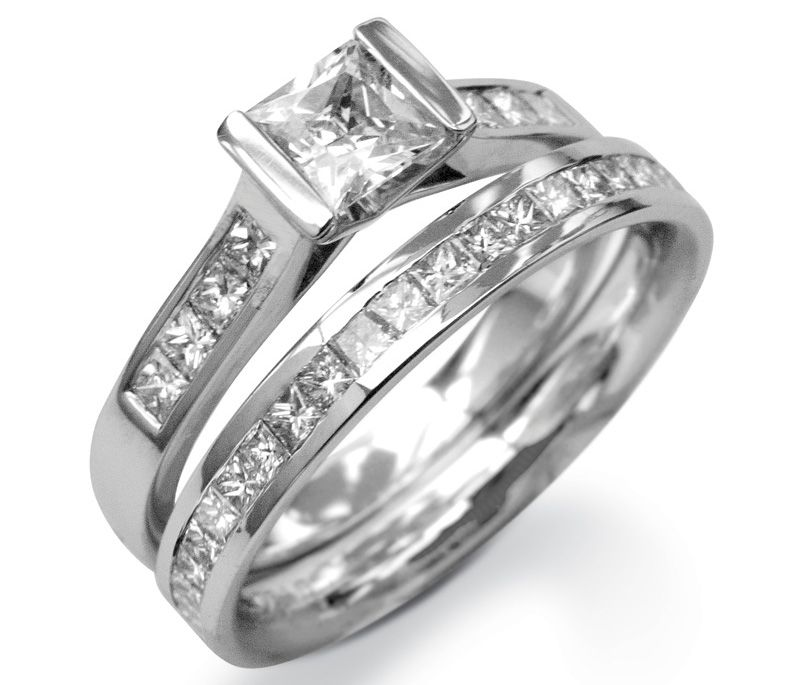 His And Hers Wedding Rings In Matching Design Sets
