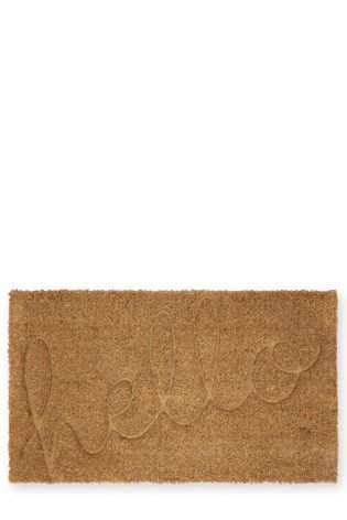 Embossed Hello Doormat