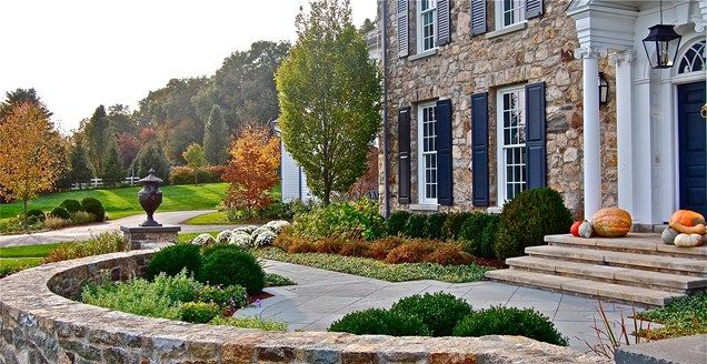front yard landscaping designs melbourne small without grass cost of formal stone wall urn columns
