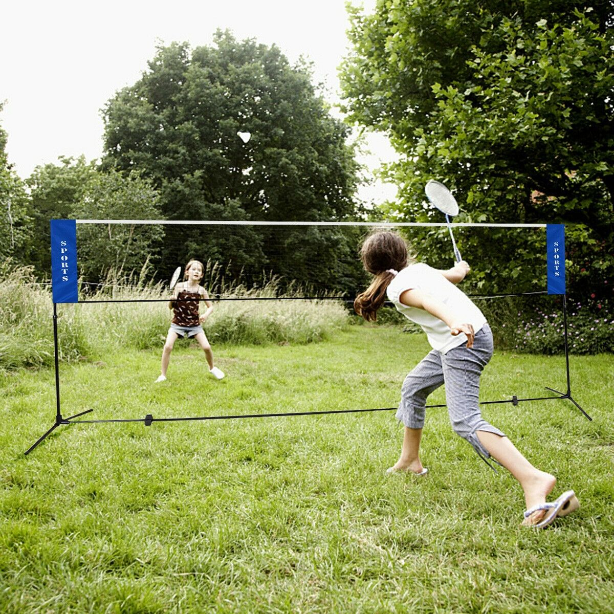 Portable 17 X5 Badminton Training Net With Carrying Bag In 2020 Badminton Badminton Set Volleyball Training