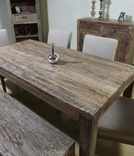 Aden Rustic Rectangular Dining Table Western Dining Tables Free