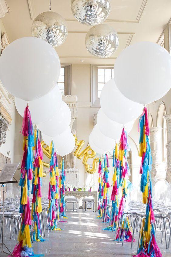 100 Giant Balloon Photo Ideas for Your Wedding Globo, Fiestas y - imagenes de decoracion con globos