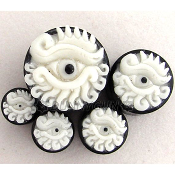 Carved Bone Rose Horn Plugs Gauges Earlets Organic Body Jewelry Jatro Hr