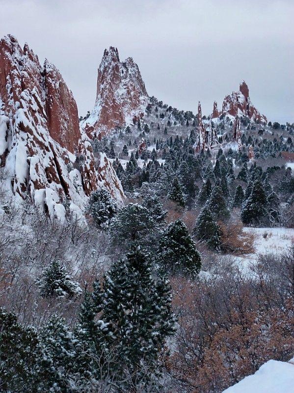 Garden Of The Gods During Winter Colorado Beautiful