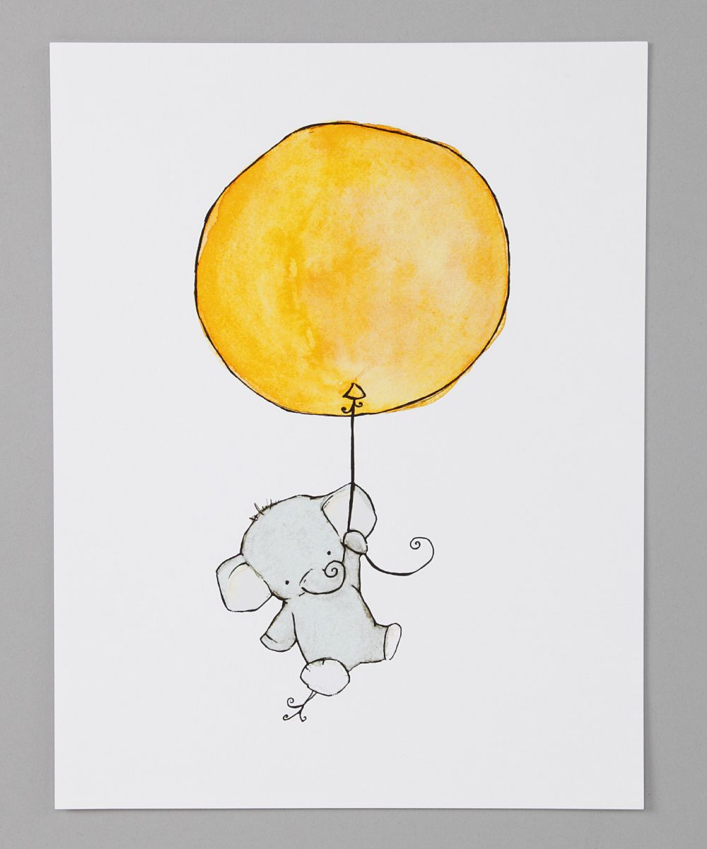 trafalgars square Yellow Elephant Balloon Wall Art | zulily | home ...