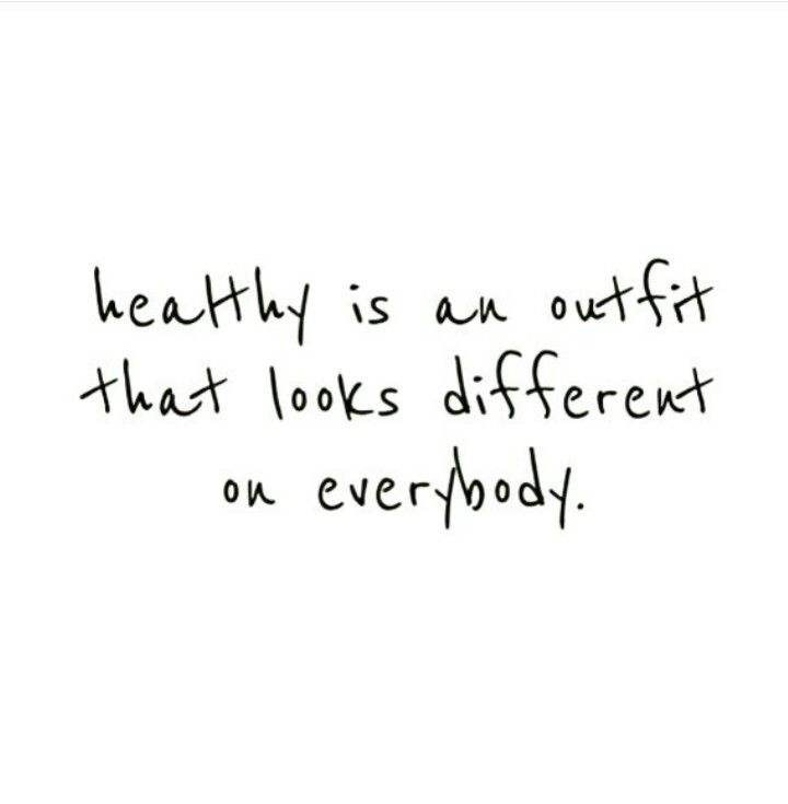 107fb37d92d Healthy is an outfit that looks different on everybody!