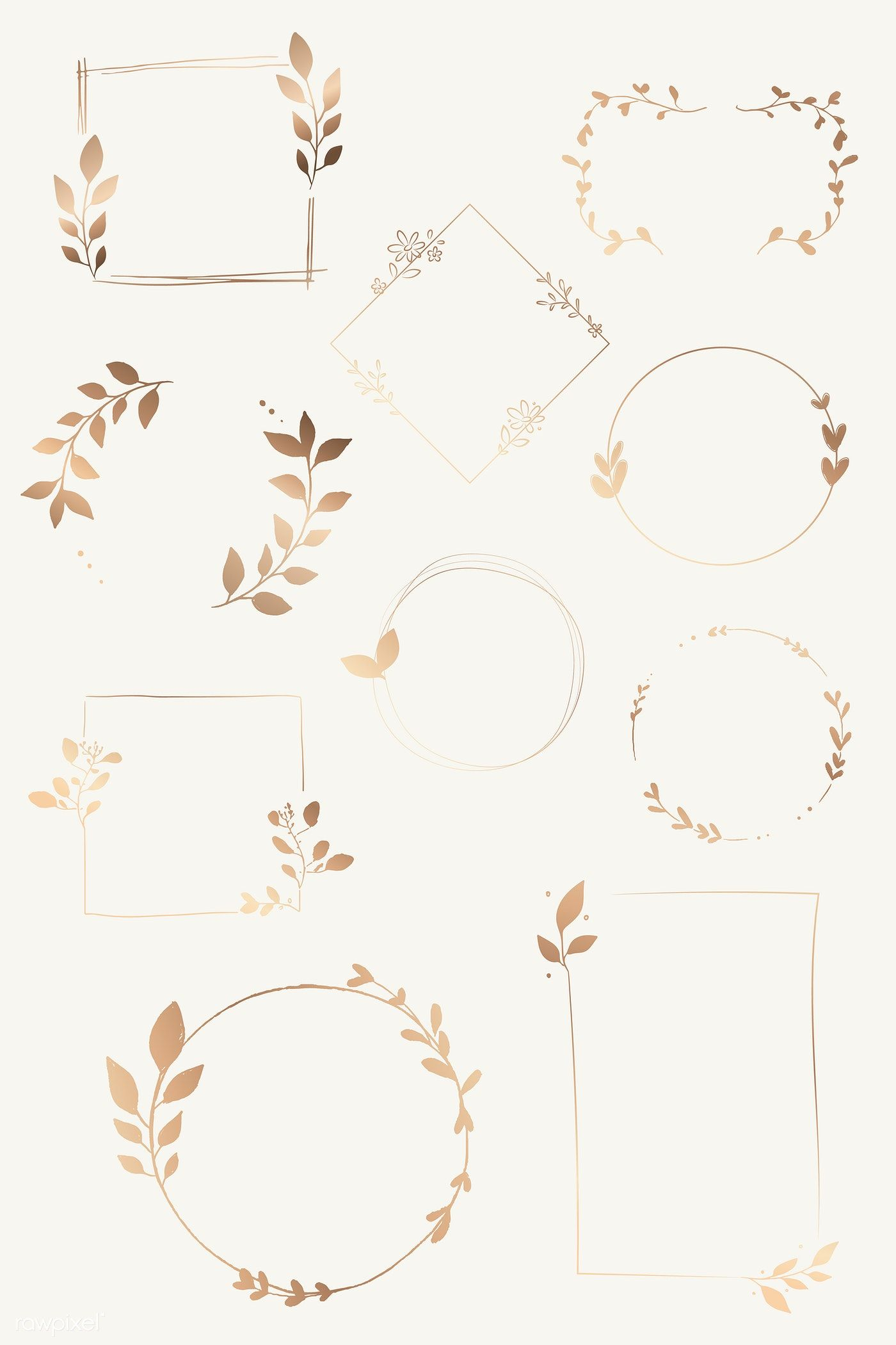 Photo of Download premium vector of doodle floral wreath vector collection 843873