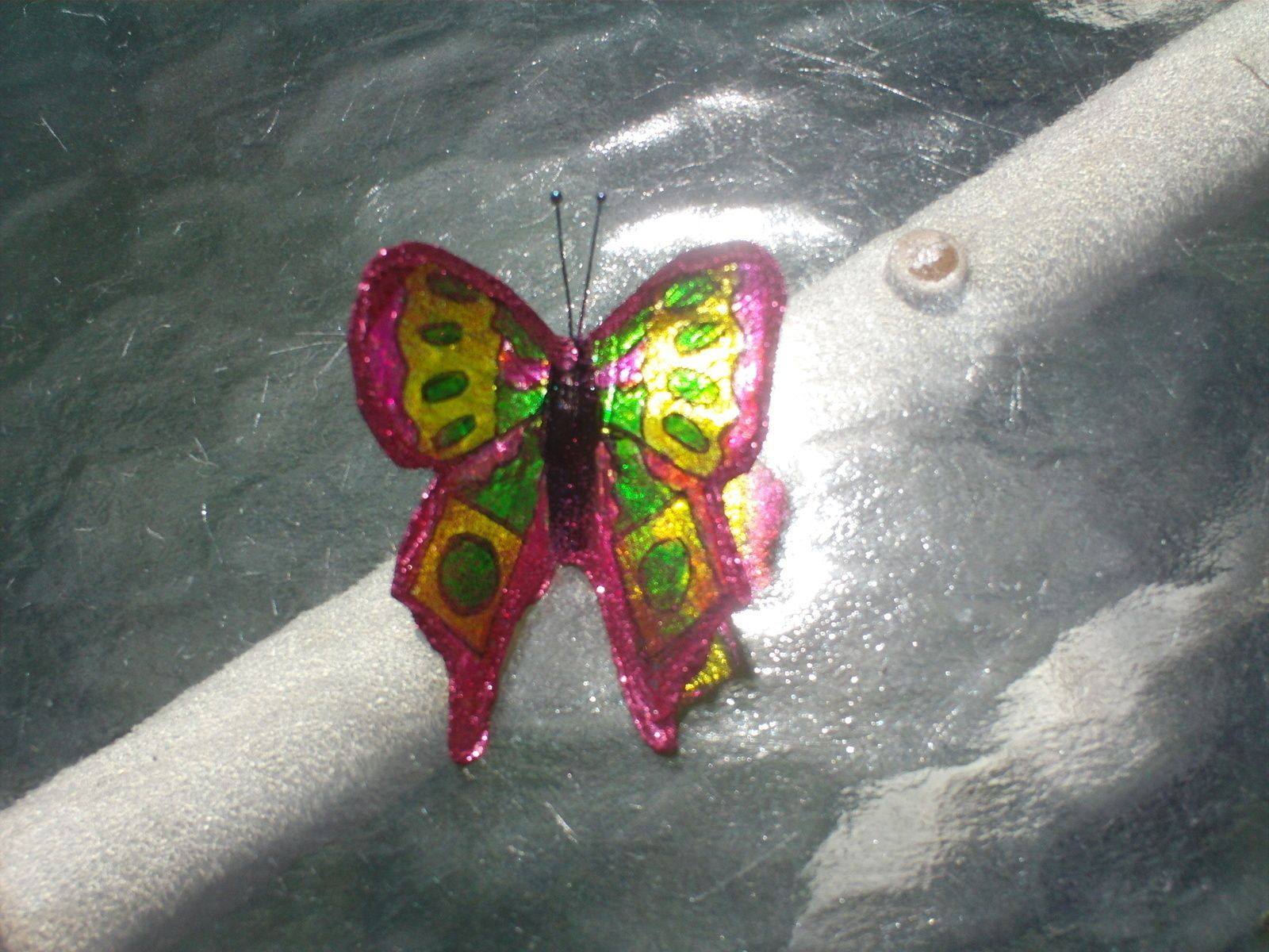 Beaded And Glittered Butterflies That Stand!
