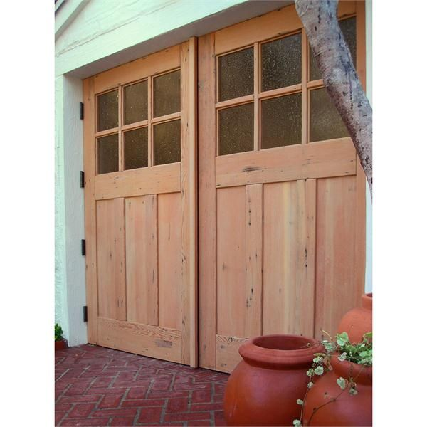 Green Carriage Doors From Real Carriage Door Company