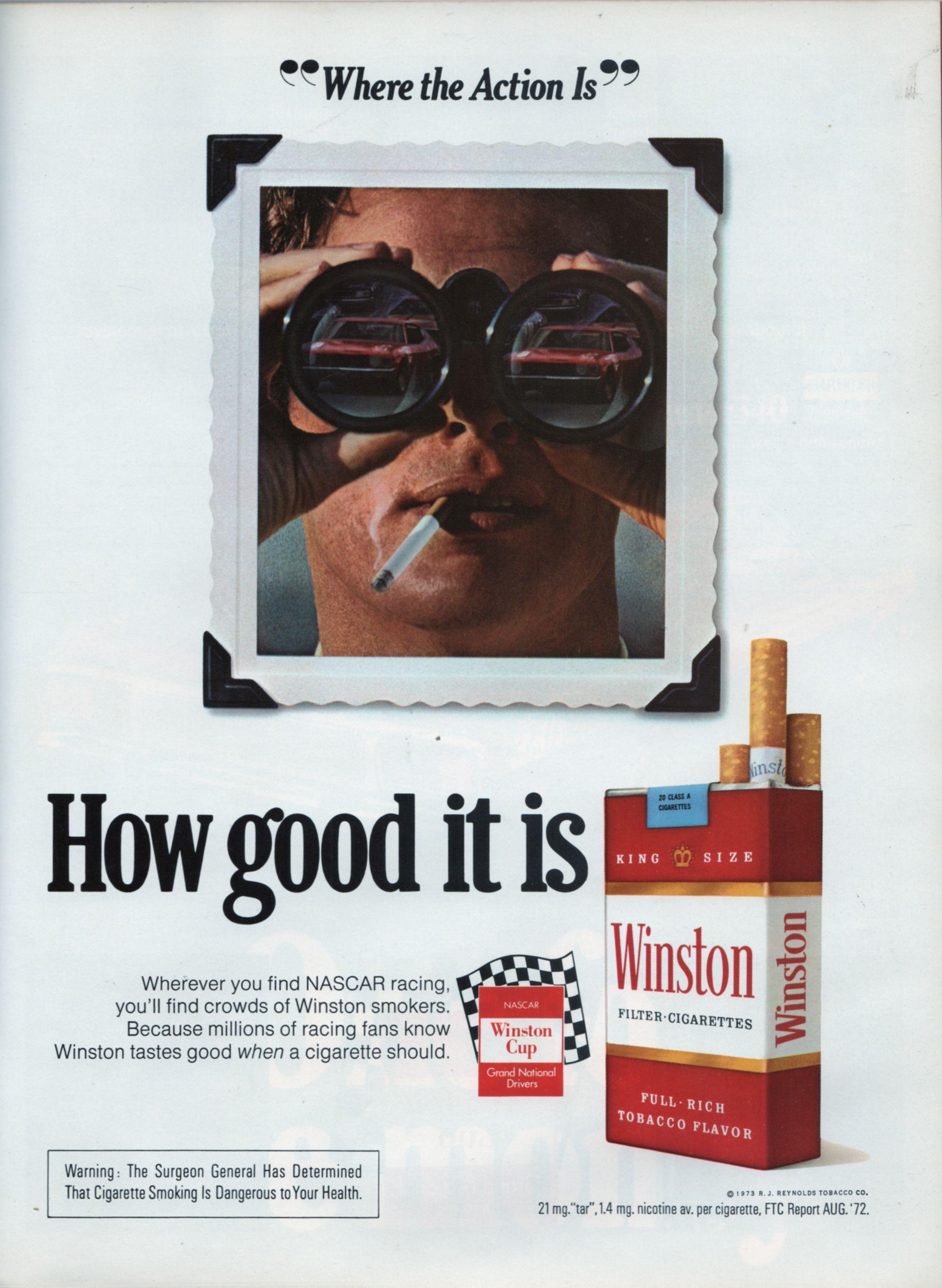 Winston Ad in 1973 Daytona 500 Program