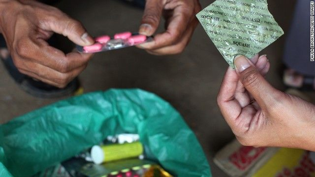 Counterfeit drugs for Malaria are common in Southeast Asia and can contain ineffective doses of artemisinin, helping create resistance to it.