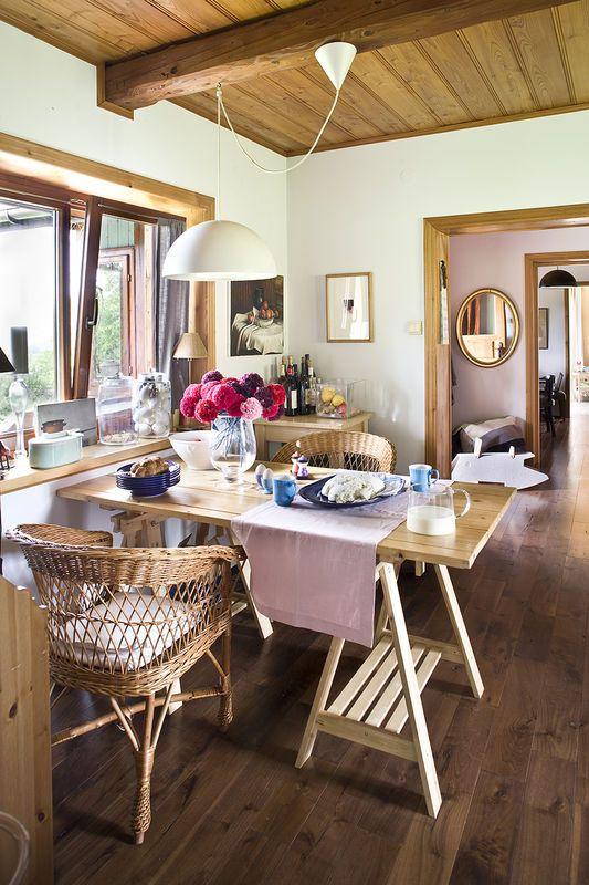 Rustykalna Jadalnia Salon Styl Rustykalny Aranzacja I Wystroj Wnetrz Home Decor Home Decor