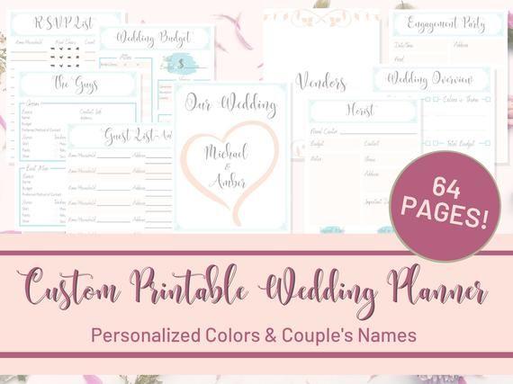 Wedding Organizer, Wedding Planner Book, Wedding Tracker, Wedding To Do List, Wedding Budget ...
