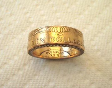 Special Price Olympic 10 Dollar Gold Coin By Spiritualflyer 865 50 Coin Ring Gold Coin Ring American Eagle Gold Coin