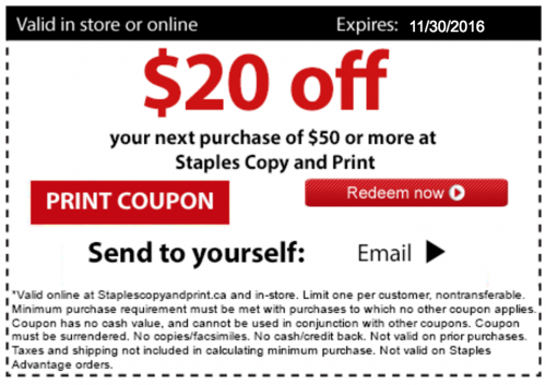 staples copy print canada deals save 20 off 50 15 off 40