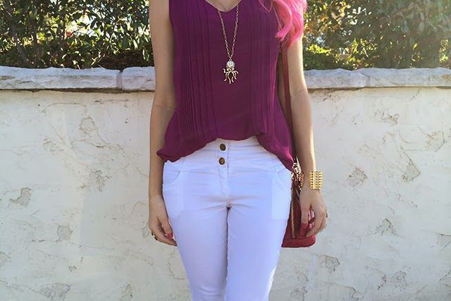 The Haute Blonde- Fashion & Beauty Blog: Purple Chiffon Blouse and Leopard Print Blazer