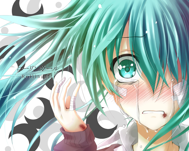 Katherine1517 Fan Art Vocaloid Rolling Girl Vocaloid Anime Crying Hatsune Miku