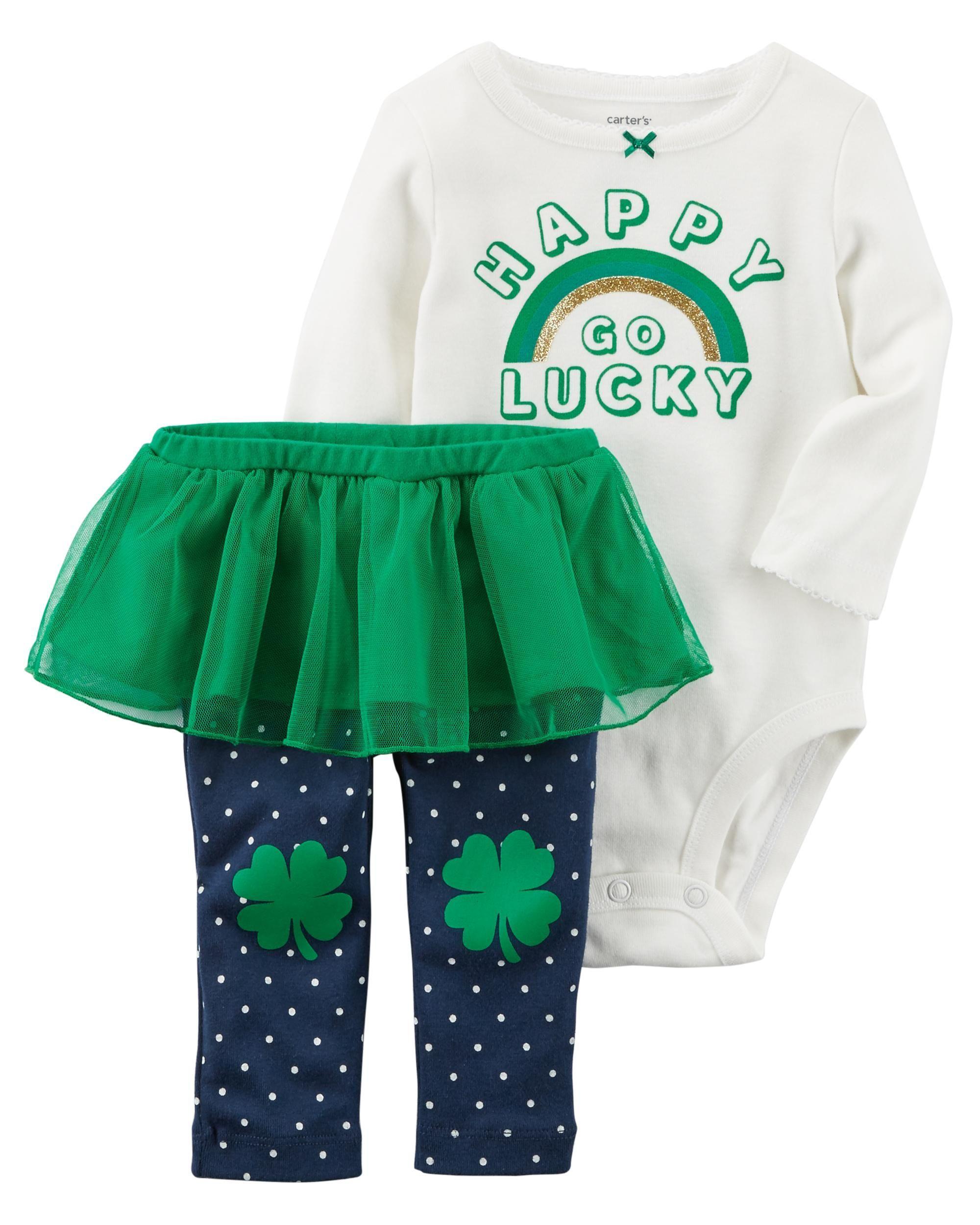 6985801eae 2-Piece St. Patrick s Day Bodysuit   Tutu Pant Set