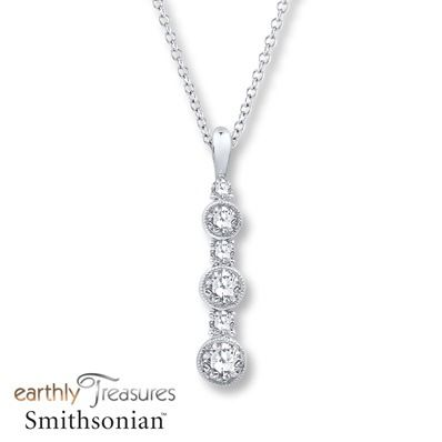 Crafted by Earthly Treasures Smithsonian three bezel set diamonds