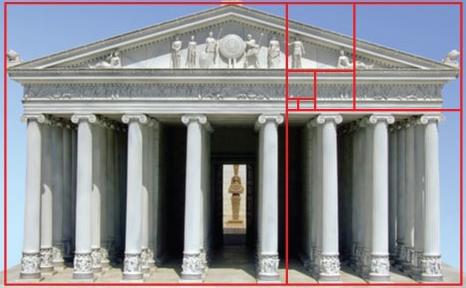 golden ratio in parthenon