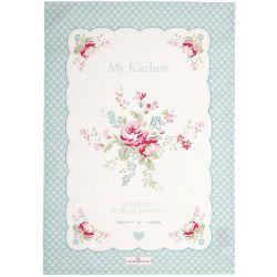 GreenGate Viskestykke - Tea Towel - Abelone Mint Piece Print 50x70 cm