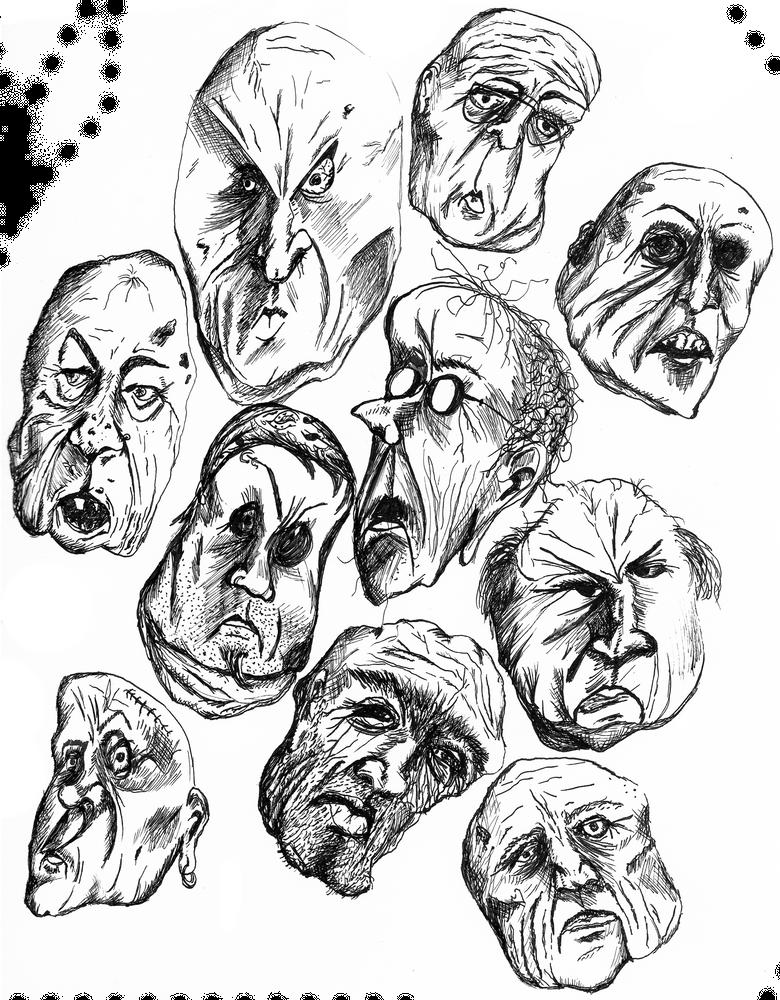 Creepy Man Faces Art Print By A Bagel X Small In 2020 Creepy Faces Face Art Creepy Guy