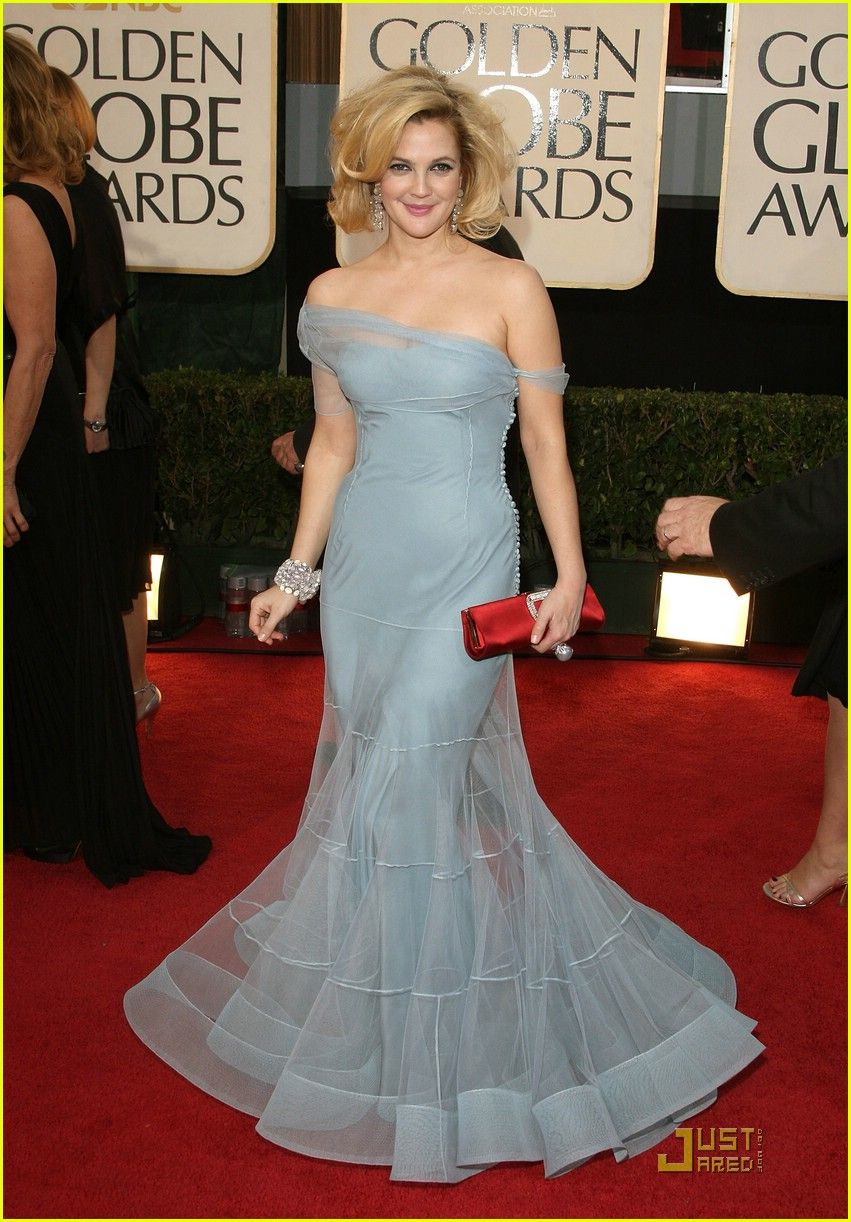 Drew Barrymore in the most beautiful John Galliano gown. Notice the ...