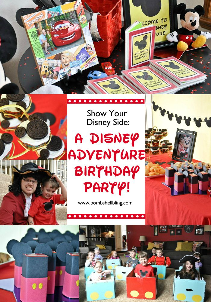 I love this Disney Adventure birthday party! Great ideas for Wreck - mickey mouse boy birthday party ideas