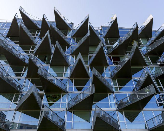 Modern Architecture: Glass VM Houses, Denmark, Copenhagen. Architect:: PLOT,