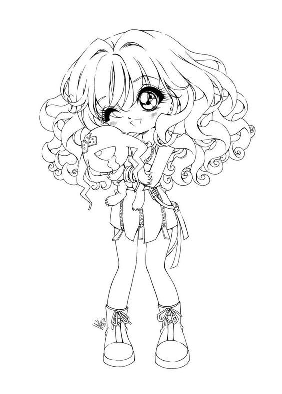 Our collection of Chibi coloring pages features some cute Chibi ...