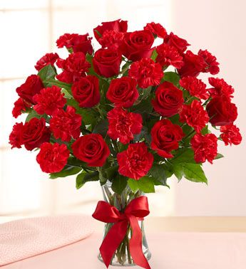 Bouquet Of Red Roses Red Roses Carnation Bouquet Flowers Online