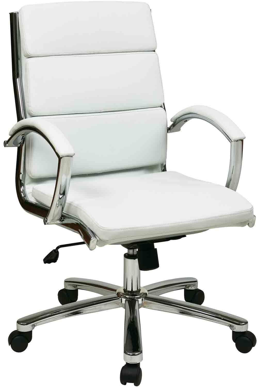 Peachy Fl5388C U11 Office Star Mid Back Modern Executive White Machost Co Dining Chair Design Ideas Machostcouk